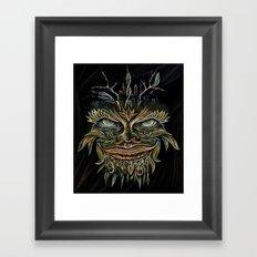 Forest Elemental Color Framed Art Print