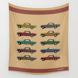 Five Studebakers Wall Tapestry