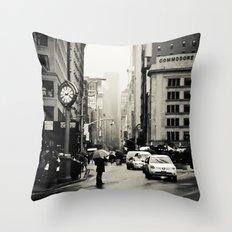 New York City - 5th Avenue in the Rain Throw Pillow