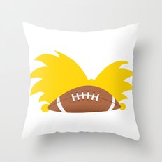 Football Head Throw Pillow