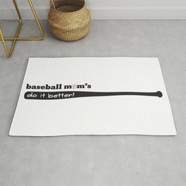 Baseball Mom's Do It Better - Baseball Mom Life Rug