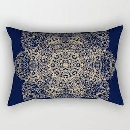 Golden star, mandala Rectangular Pillow
