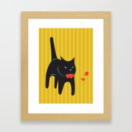 Zombie Cat Hank Framed Art Print