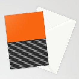 Half thin striped orange Stationery Cards