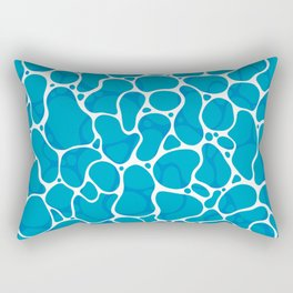The Great Sea: Graphic Ocean Water Pattern Rectangular Pillow