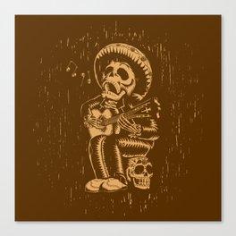 Dia De Los Muertos woodcut Canvas Print