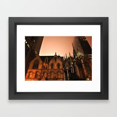 Gotham Church Framed Art Print