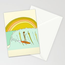 gerry lopez pipeline 70s daydreams // retro surf art by surfy birdy Stationery Cards