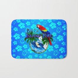 Blue Flowers Island Time Surf Bath Mat