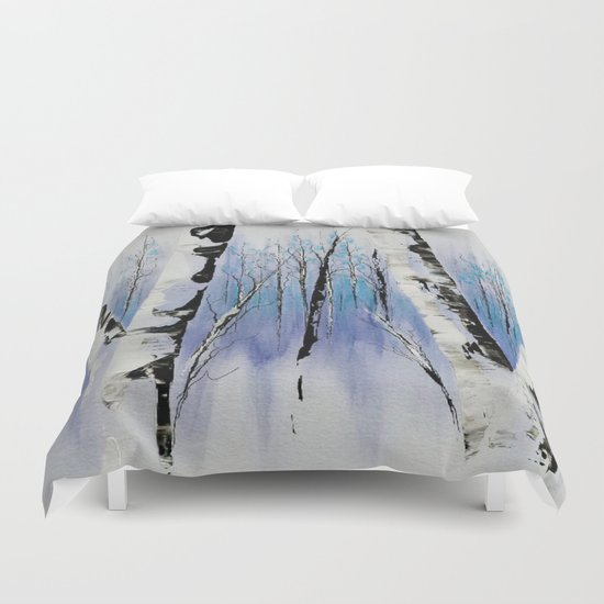 Shadowy Forest Duvet Cover