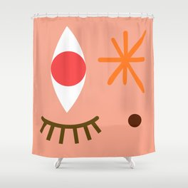 Bright Eyed & Bushy Tailed Shower Curtain