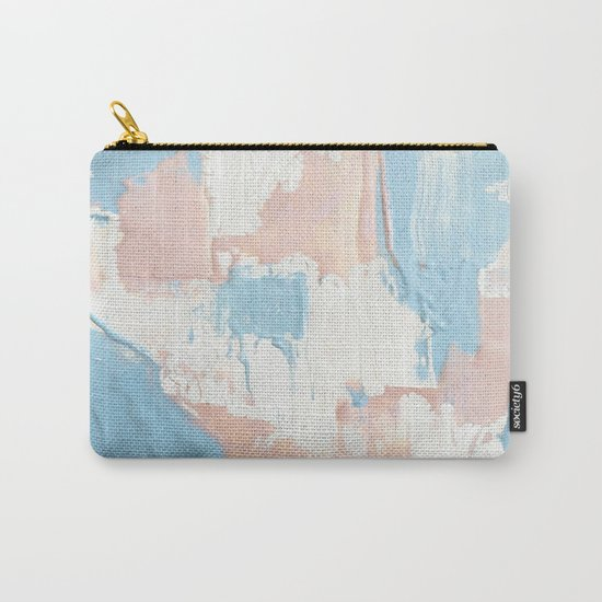 Pink and Blue Abstract Carry-All Pouch