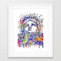 new york Framed Art Prints featuring New York New York by Bekim ART