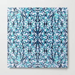 Floral Abstract Pattern G22 Metal Print