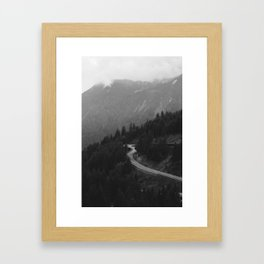 Road To Adventure - Swiss Alps Framed Art Print
