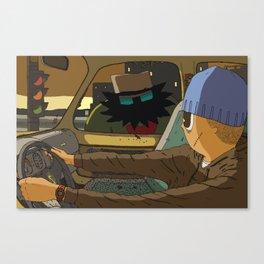 Carjack Canvas Print