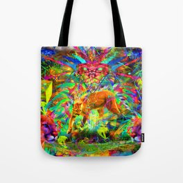 The Laser Focus of Couger Conciousness Tote Bag