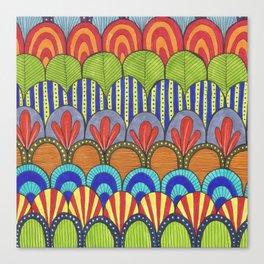 bright scalloped pattern Canvas Print