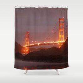 Blazin Golden Gate Shower Curtain