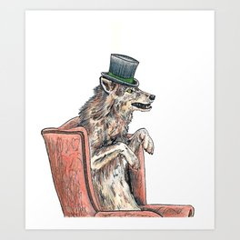 Top Hat Art Print