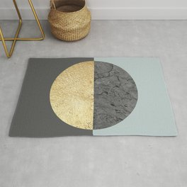 Marble and gold circle Rug