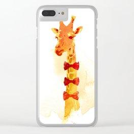 Elegant Giraffe Clear iPhone Case