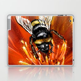 Bee on flower 1 Laptop & iPad Skin