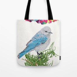 Mt Bluebird Tote Bag