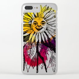 Hood's Own Sunflower Clear iPhone Case