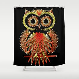 String Art Owl Shower Curtain