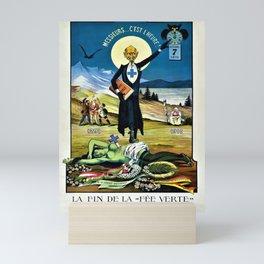 Vintage 1910 Absinthe Advertisement 'Prohibition - Death of Absinthe The Green Fairy' Poster Mini Art Print
