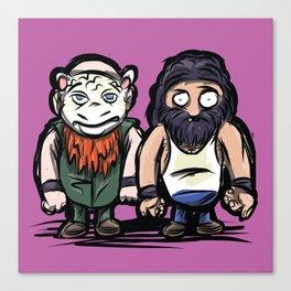The Wyatt Family: Pro Wrestler Doodle Canvas Print