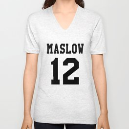 Maslow Black Unisex V-Neck