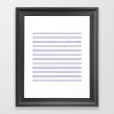 Blue n White Stripe Framed Art Print