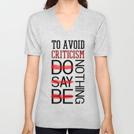Lab No. 4 Do Say Be Nothing Elbert Hubbard Famous Motivational Quotes Unisex V-Neck