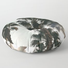 Palm Tree Art Print {1 of 3} | Teal Pastels Topical Beach Plant Nature Vacation Sun Vibes Artwork Floor Pillow