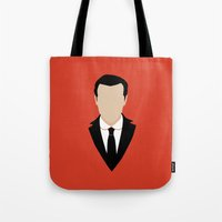 moriarty Tote Bags featuring 3 Jim Moriarty by Alice Wieckowska