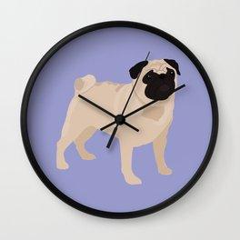 PUG - Lilac Wall Clock