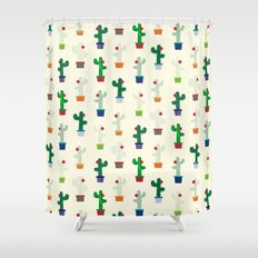 The Cactus! Shower Curtain