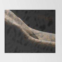 Wooden Girl Throw Blanket