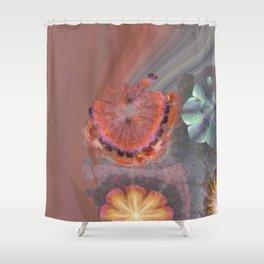 Absenters Intermixture Flower  ID:16165-065456-80170 Shower Curtain