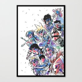 Final Fantasy VII Cast Canvas Print
