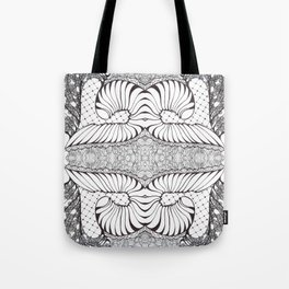 Black and White Zen Doodle Tote Bag