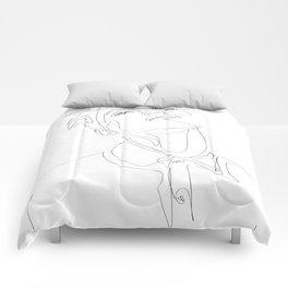 Fashion Minimal Line Illustration Comforters