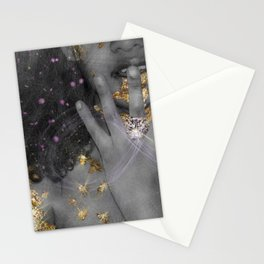 "Gold Fantasy 2 "" Black Gold "" Stationery Cards"