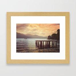 Lagoon Harmony Framed Art Print