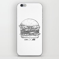 burger iPhone & iPod Skins featuring Burger by Les Très Tresses