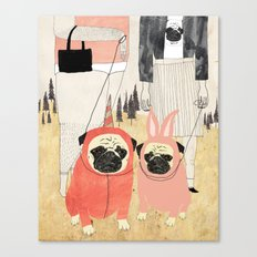 PUG LOVE Canvas Print