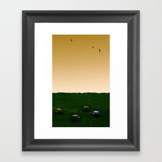 Everywhere and Nowhere Framed Art Print