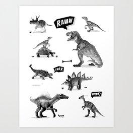 Dinosaur Hunt Art Print